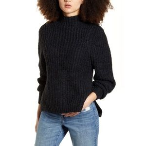 NWT Leith Mock Neck Sweater in Black